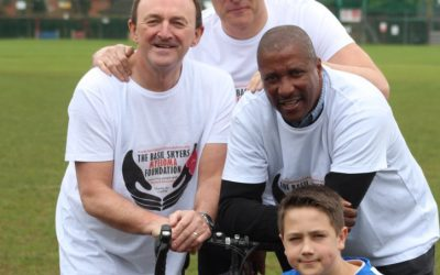 Viv Anderson MBE joining the ride